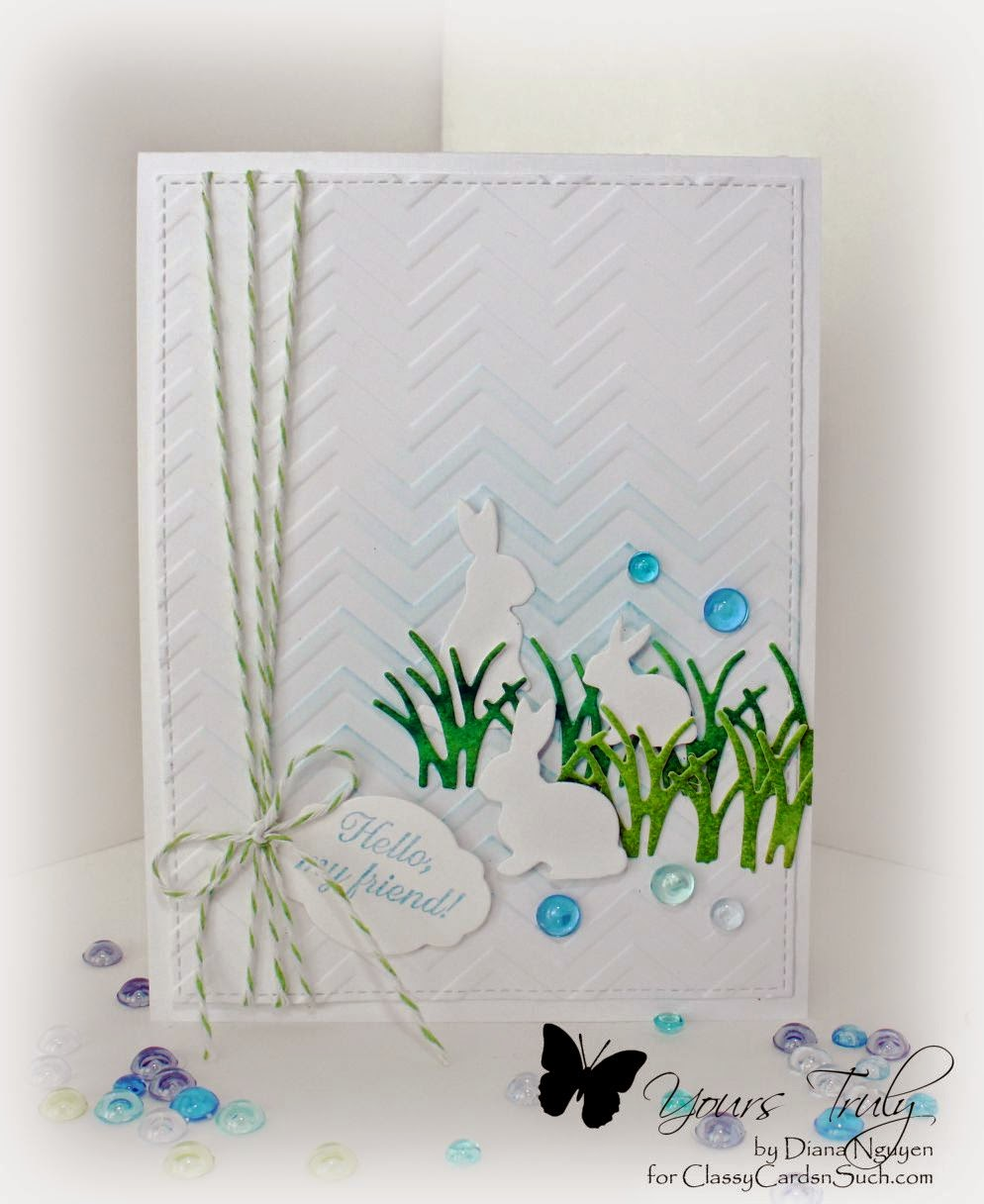 Easter, CAS, Impression Obsession, Memory Box, Diana Nguyen
