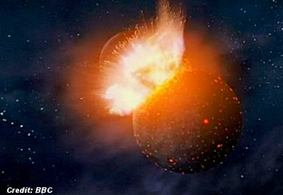 Alien Planet Collides with Earth; Gives Birth To The Moon?