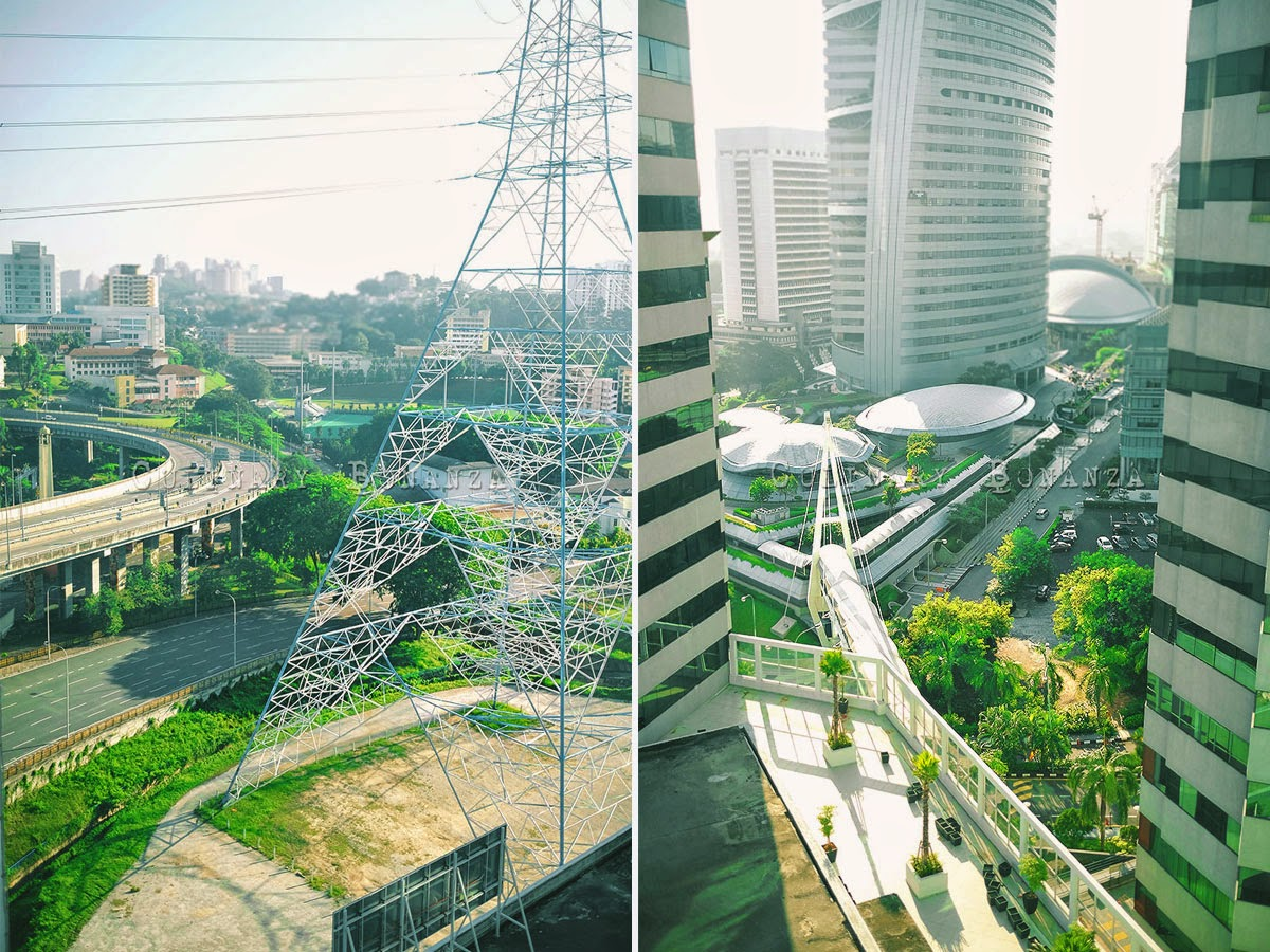 The major highway junction and Malaysia Telekom Tower