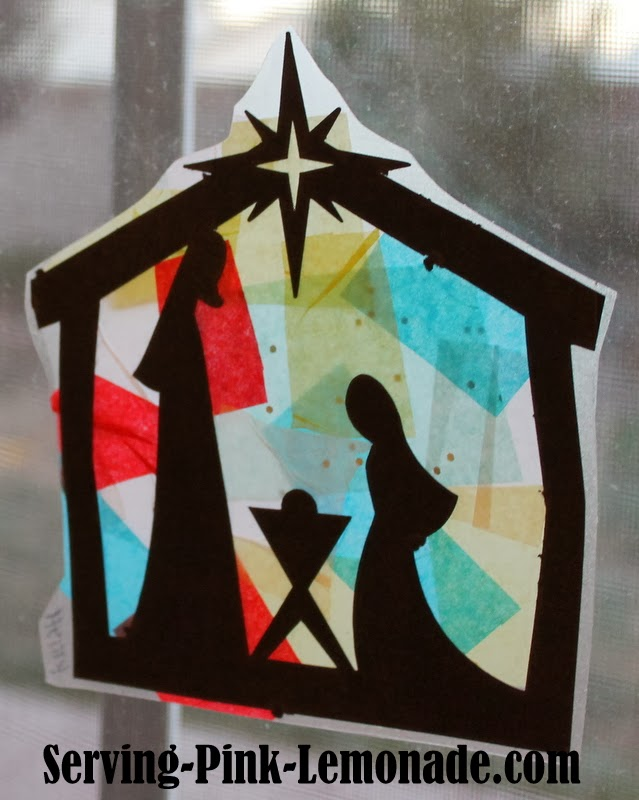 serving pink lemonade quotstainedglassquot nativity