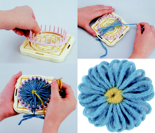 Knitting Loom Flower Tutorial : House of knitting looms
