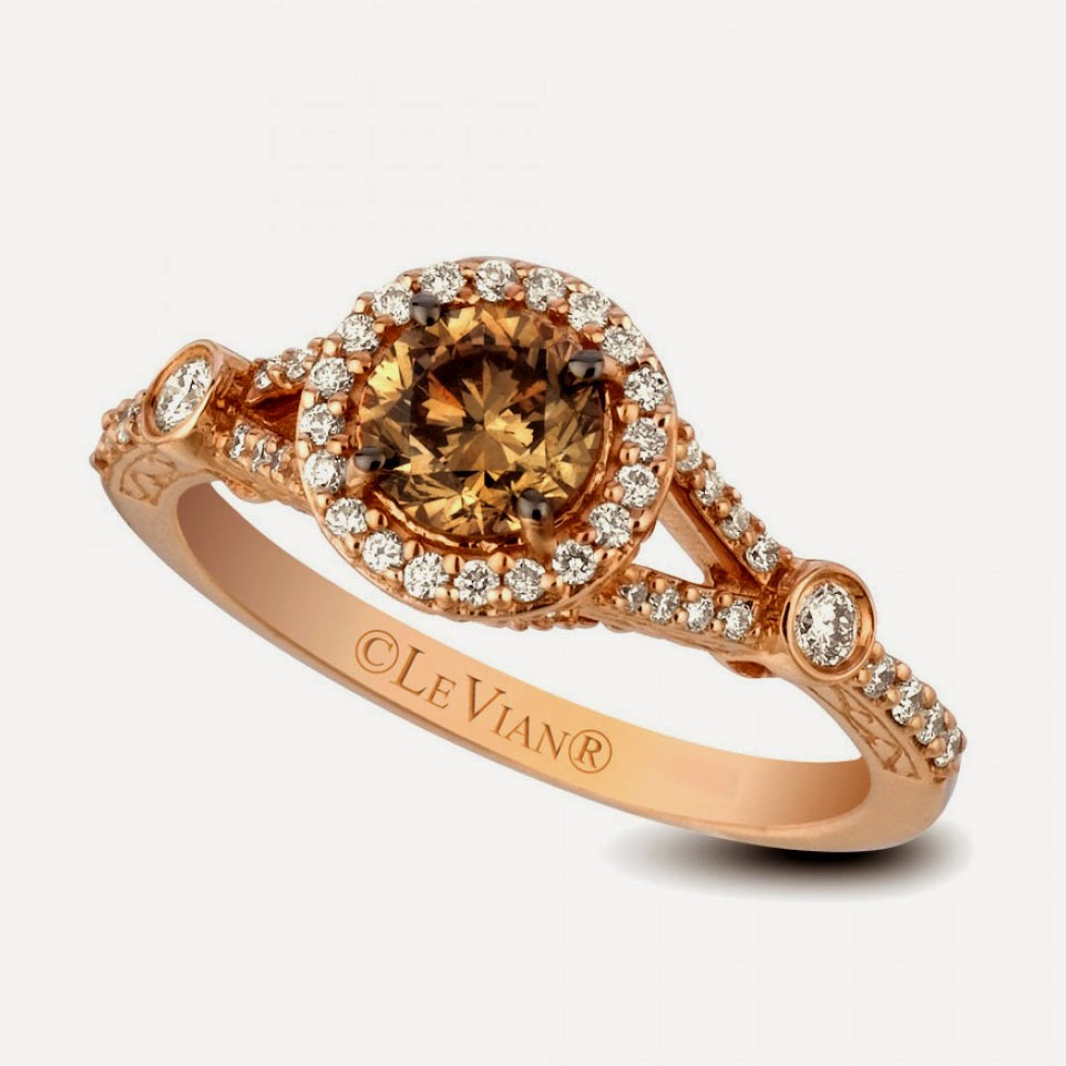 Chocolate Diamond Wedding Rings Model Pictures