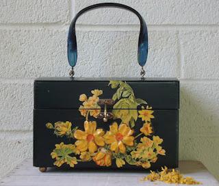 Iridescent Living vintage wooden purse