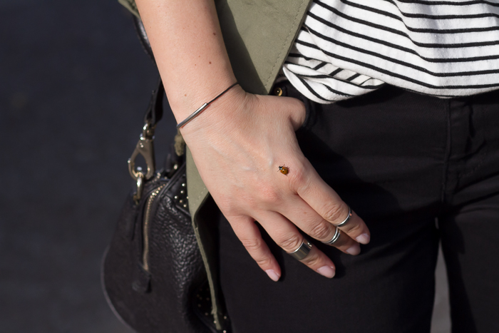 Midi rings and ladybug