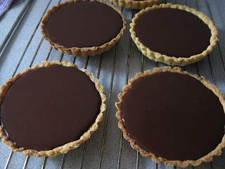 tartaletas de chocolate