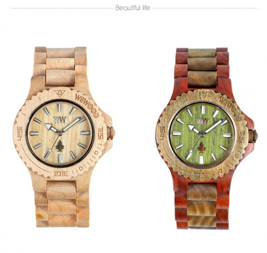 Celebrity trends of 2011 beautiful men 39 s wooden full color watches by wewood for Trendy celebrity watches