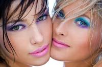 Colourful smokey eyes makeup