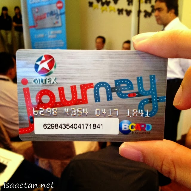 My very own Caltex JOURNEY Card, which doubles up as a BCARD