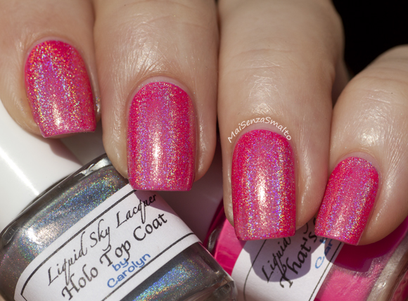 Liquid Sky Lacquer That's HOT! + Holo Top Coat