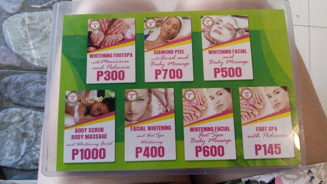 day spa marvie perez price list