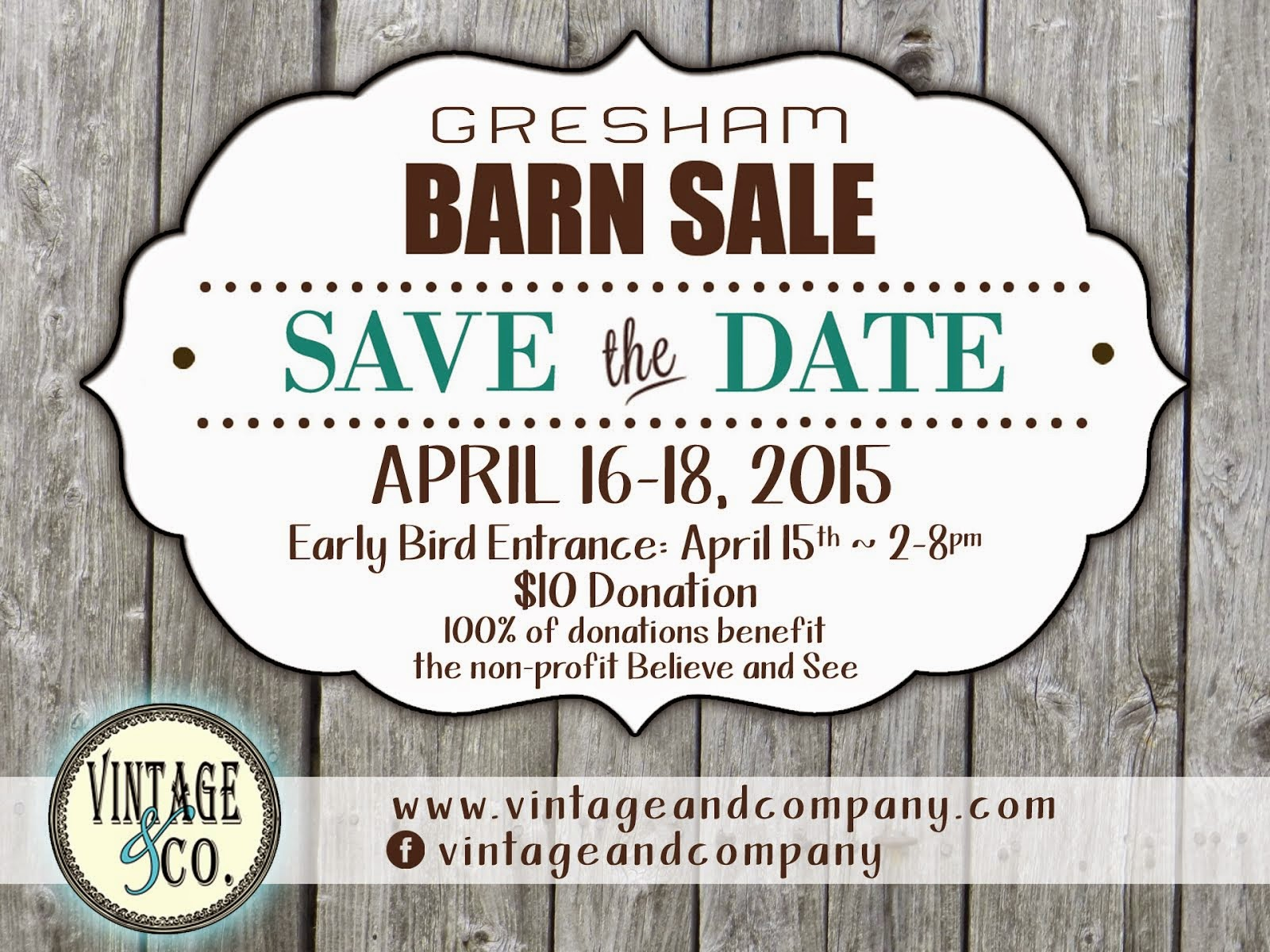 Spring Barn Sale Dates