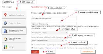 halaman google plus page
