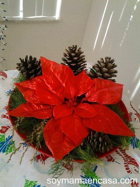 Centro de mesa navide o reciclado soy mam en casa - Como hacer un centro de mesa navideno ...