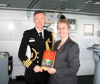 Capt Simon O'Brien and Penny Legg with Under the Queen's Colours