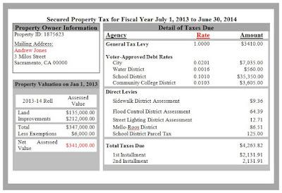 California Property Tax Bill