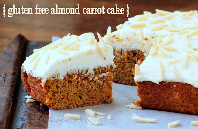 Gluten-free Almond Carrot Cake Lemon Cream Cheese Frosting