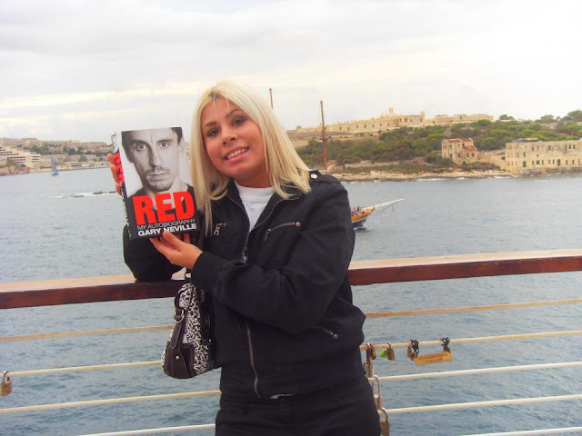 Marika Camllieri with Neville's book