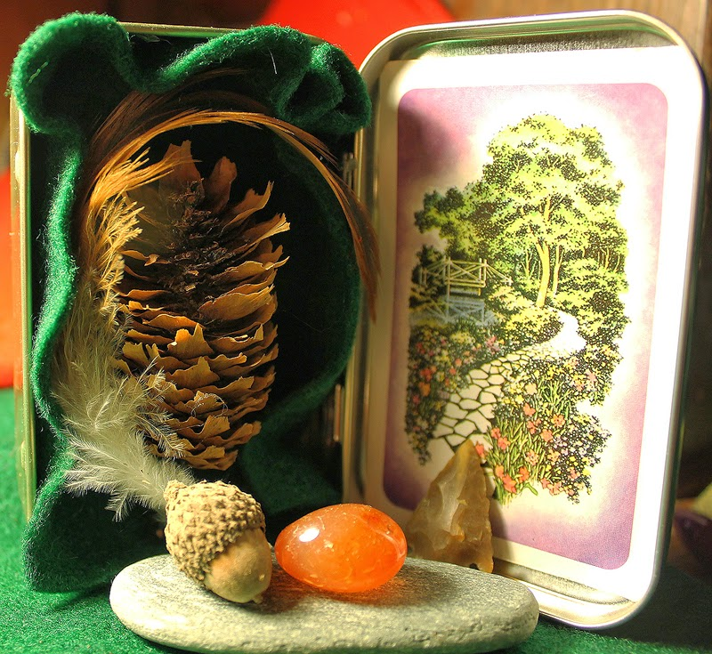 Nature Pocket Shrine by Gloria Gypsy