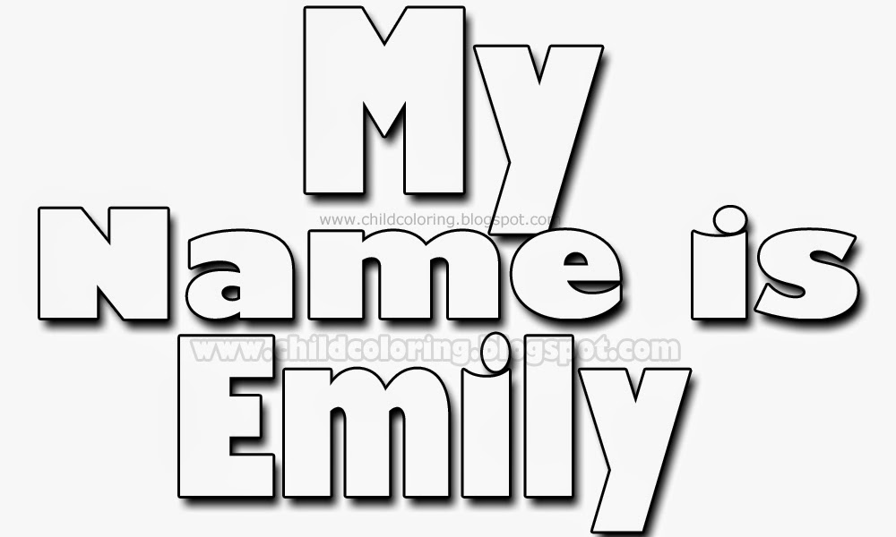 My Name Is Emily Coloring