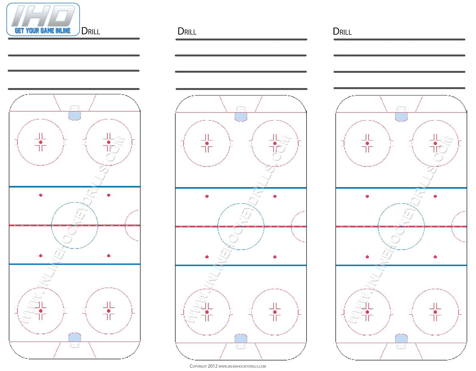 Blank Rink Downloads Inline Hockey Drills – Hockey Templates Free