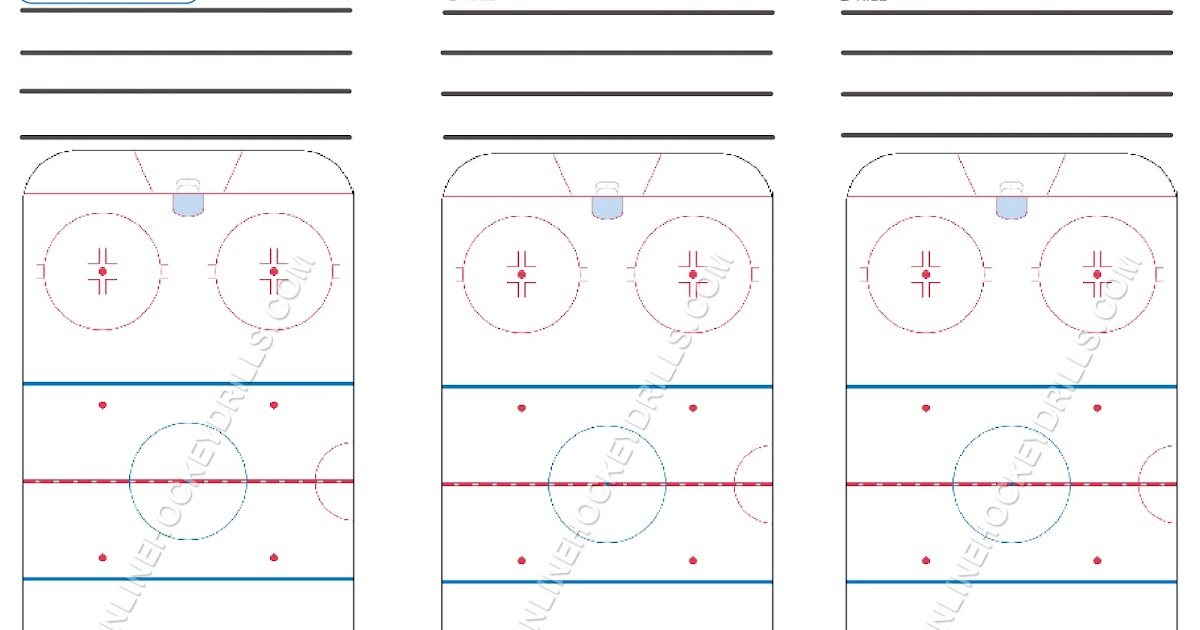 Blank Rink Downloads ~ Inline Hockey Drills