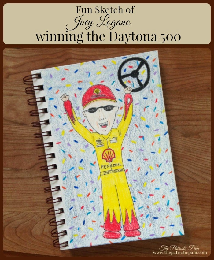 NASCAR, Daytona 500, Pennzoil, sketching, drawing, art