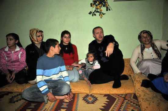 اردوغان و جو العائلة الريفى