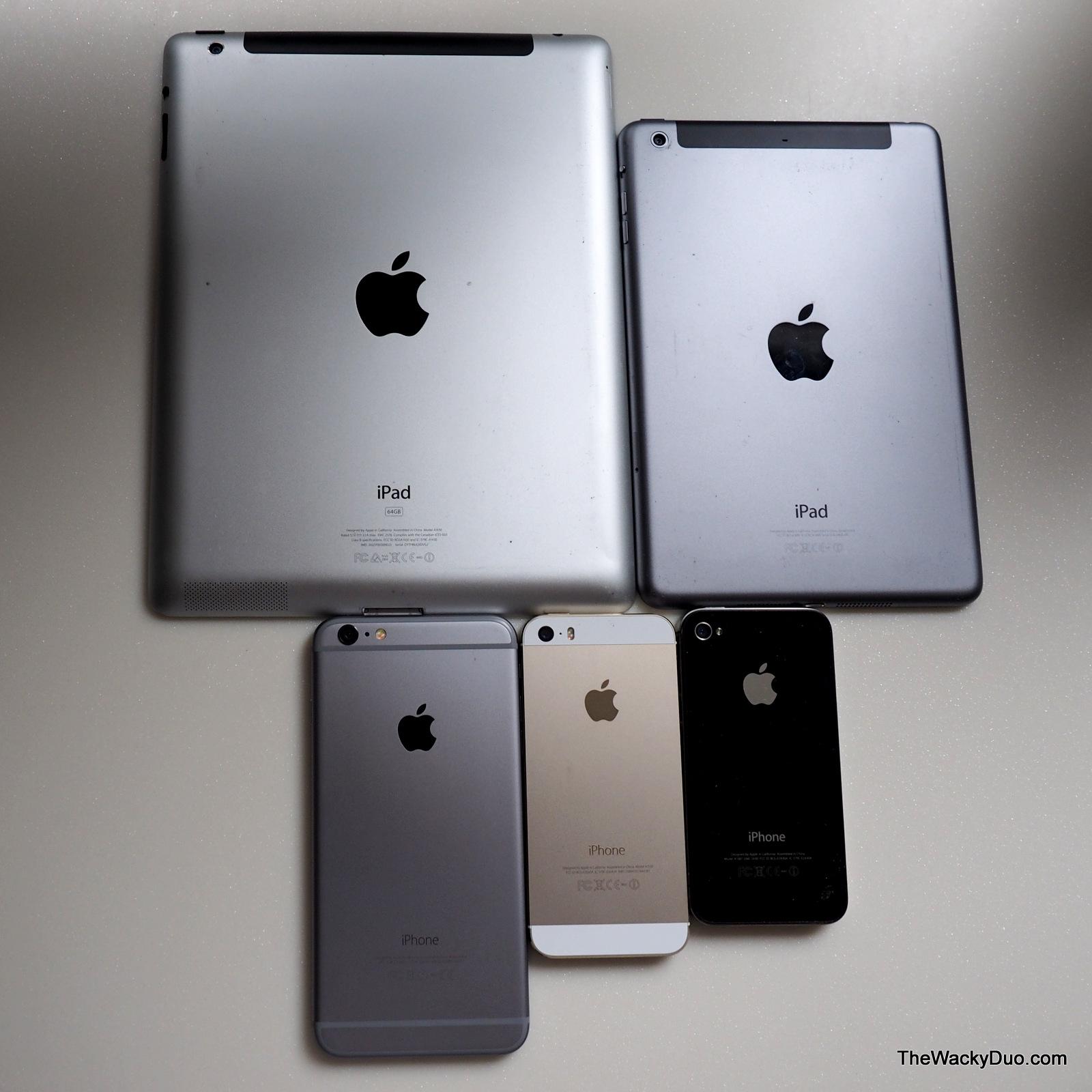 IPhone 6 Plus Vs 4 5s IPad Mini