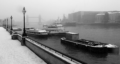 Thames in the snow