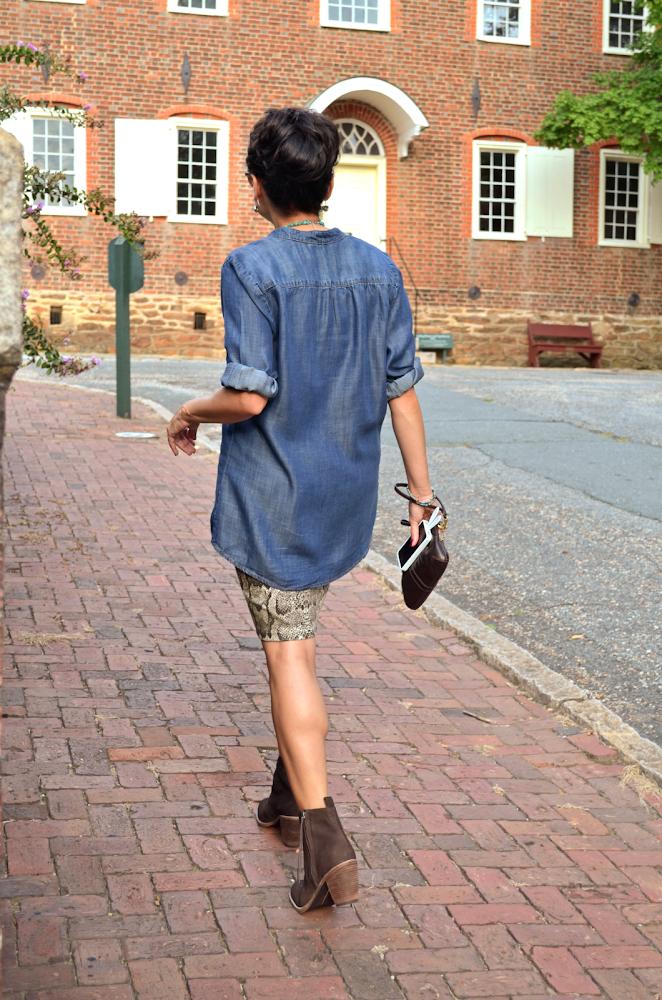 Chambray Shirt Street Style