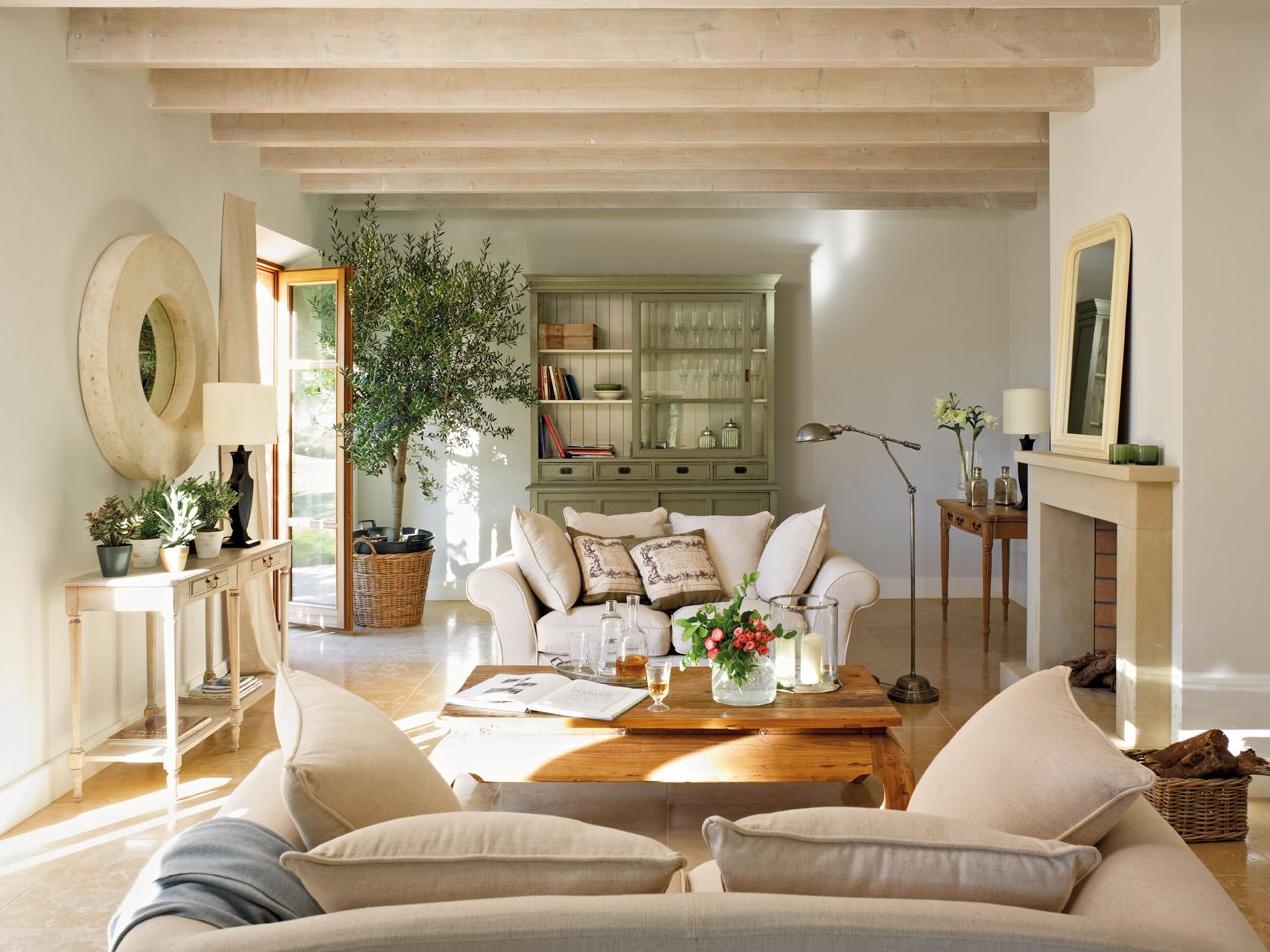 Salones veraniegos remanso de paz y tranquilidad - Muebles de salon en blanco roto ...