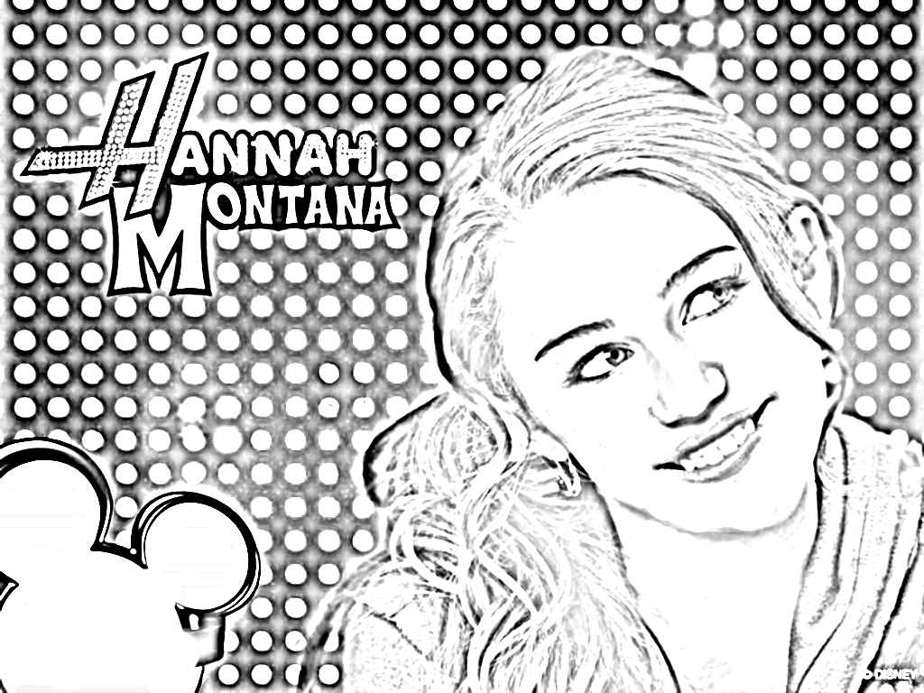 hannah montanta coloring pages - photo#32