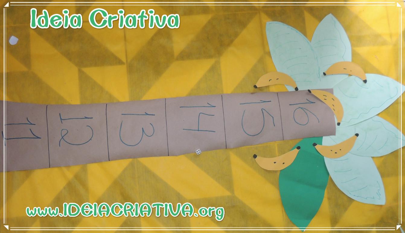 Jogo Pedagógico Matemática Educação Infantil  Macaquinho quer banana.