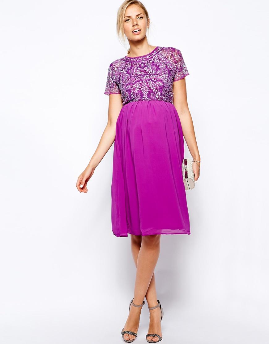 Magnífico Vestidos De Fiesta Corto De Color Púrpura Modelo ...