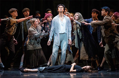 Cesar Morales as the Stranger in Miracle in the Gorbals - Birmingham Royal Ballet - photo Bill Cooper