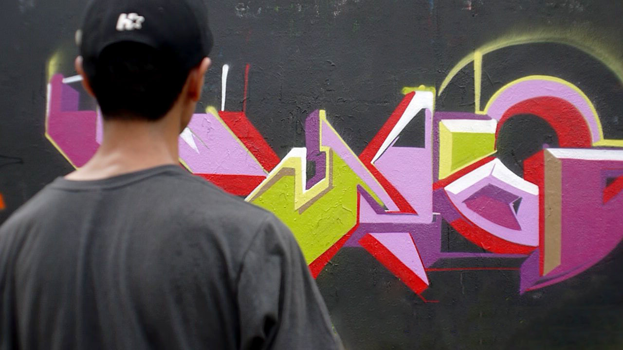 A very nice weather for just writing my name indonesia graffiti session met a lot of friends and some new peoples thanks to drips n drops for making it