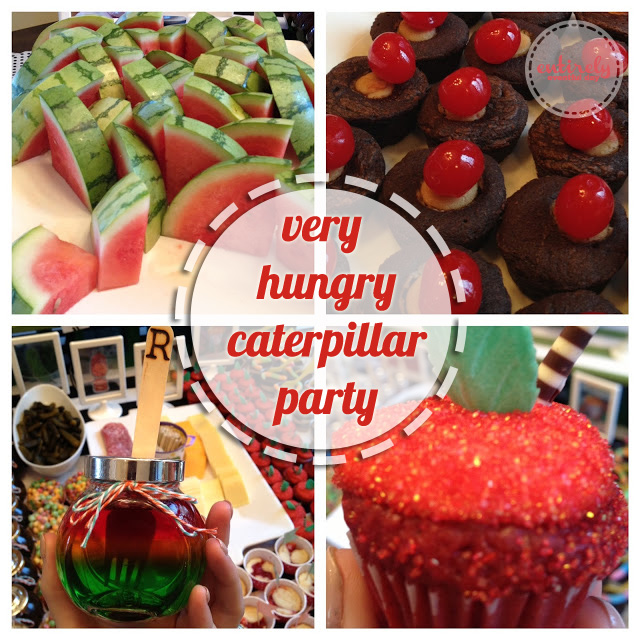 Perfect for a little boy... Very Hungry Caterpillar Party Theme.  entirelyeventfulday.com