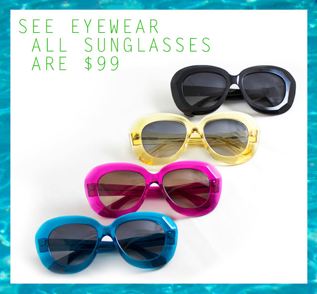 Edgy, oversize sunglasses $99 from @SEEEYEWEAR! featured on shopalicious.com