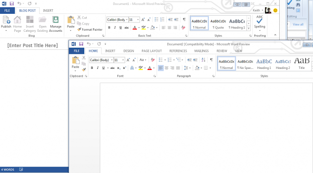 Microsoft Office Word 2013 Metro UI