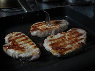 Pork Chops In Frying Pan