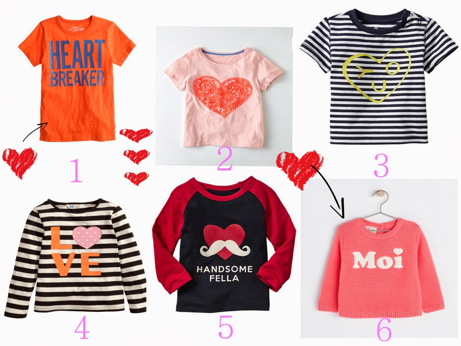 Fesselnd 6 Stylish Valentineu0027s Day T Shirts For The Little Girls And Boys | V. I.  BUYS
