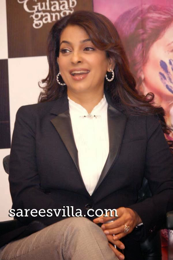 Juhi Chawla during the Promotion of `Gulaab Gang`