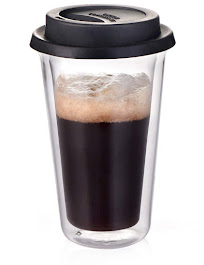 Glass Travel Coffee Mug with Lid