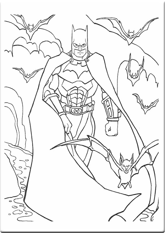 Batman and Friends Save The World | Super Hero Coloring Pages title=