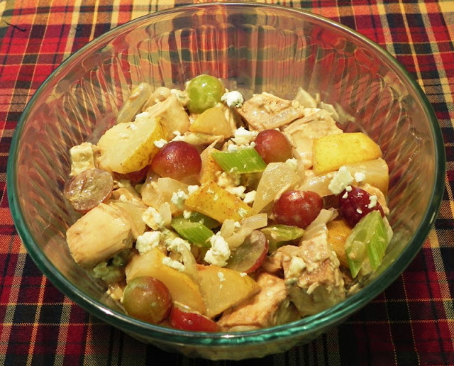 The Iowa Housewife: Roasted Chicken Salad with Pears and Grapes