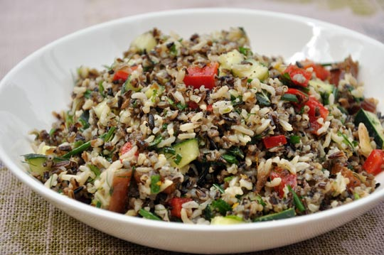 girls and their meals: California Wild Rice Chicken Salad