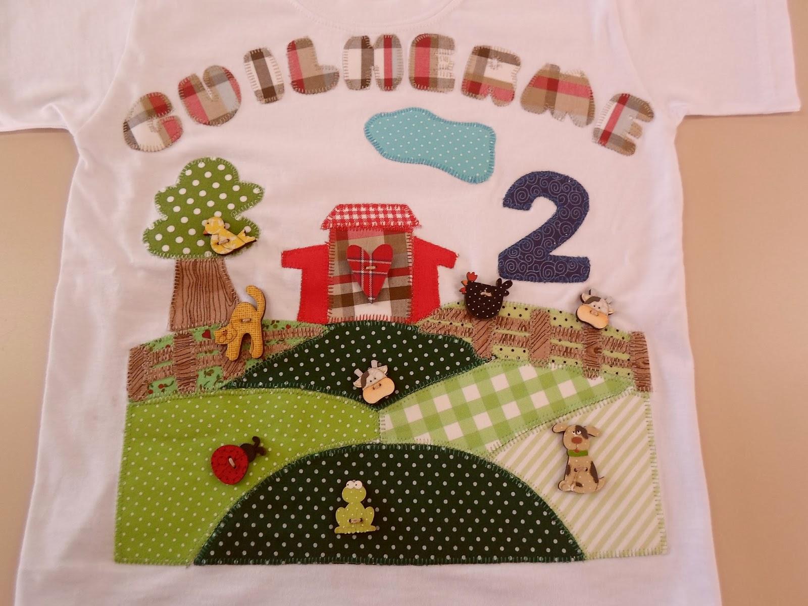 f072bf3f74 Camiseta fofo que fiz pro aniversário do Guilherme com o tema Fazendinha !