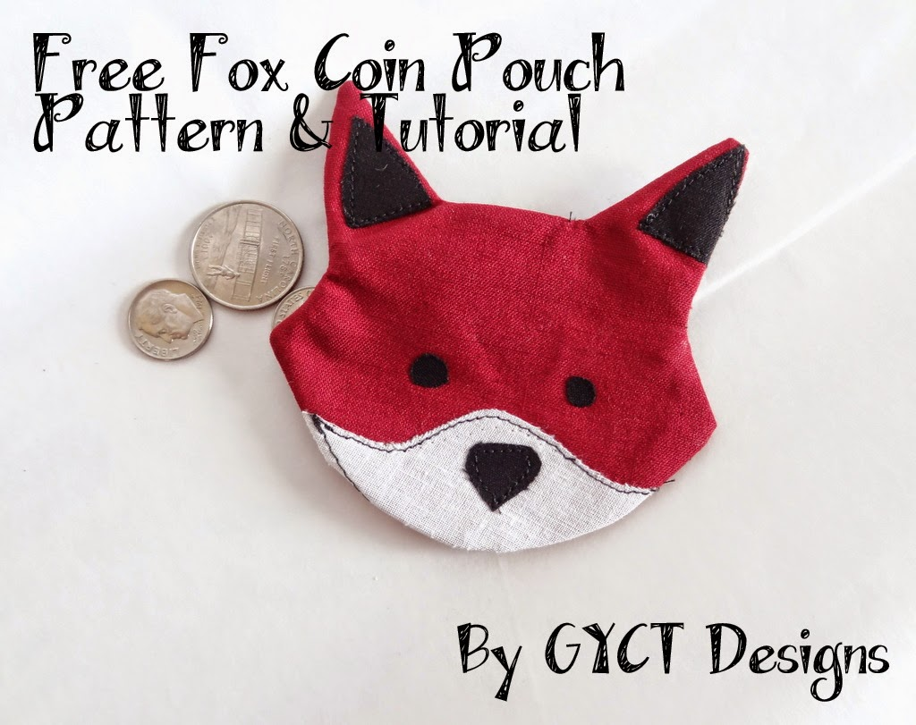Free Fox Coin Pouch Pattern & Tutorial