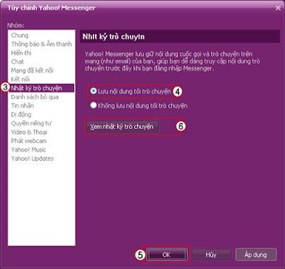 Sofware tips Hướng dẫn xem lại nhật ký trò chuyện trong Chat Yahoo