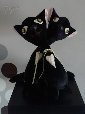 personalizowane maskotki kotki czarne